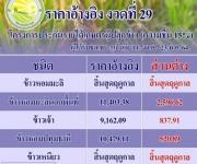 ราคาเกณฑ์กลางอ้างอิงและการชดเชยส่วนต่างราคาตามโครงการประกันรายได้เกษตรกรผู้ปลูกข้าว ปี63/64 งวดที่ 29