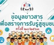 ข้อมูลข่าวสารเพื่อการรับรู้สู่ชุมชน ครั้งที่ 28/2563
